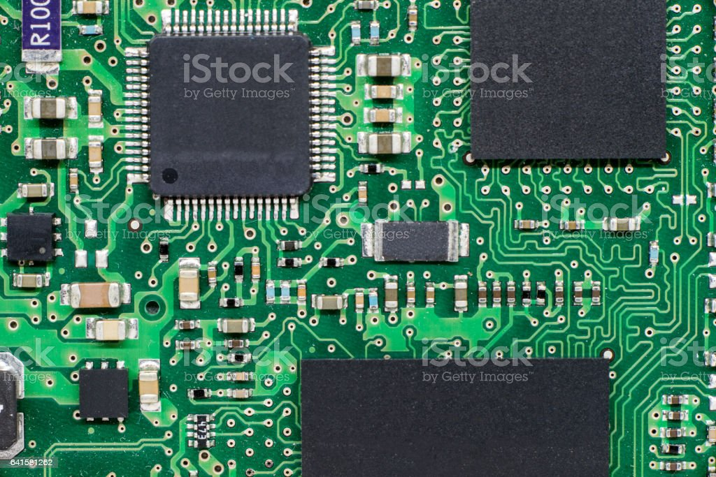 smd printed electronic circuit board with microcontroller and rh istockphoto com