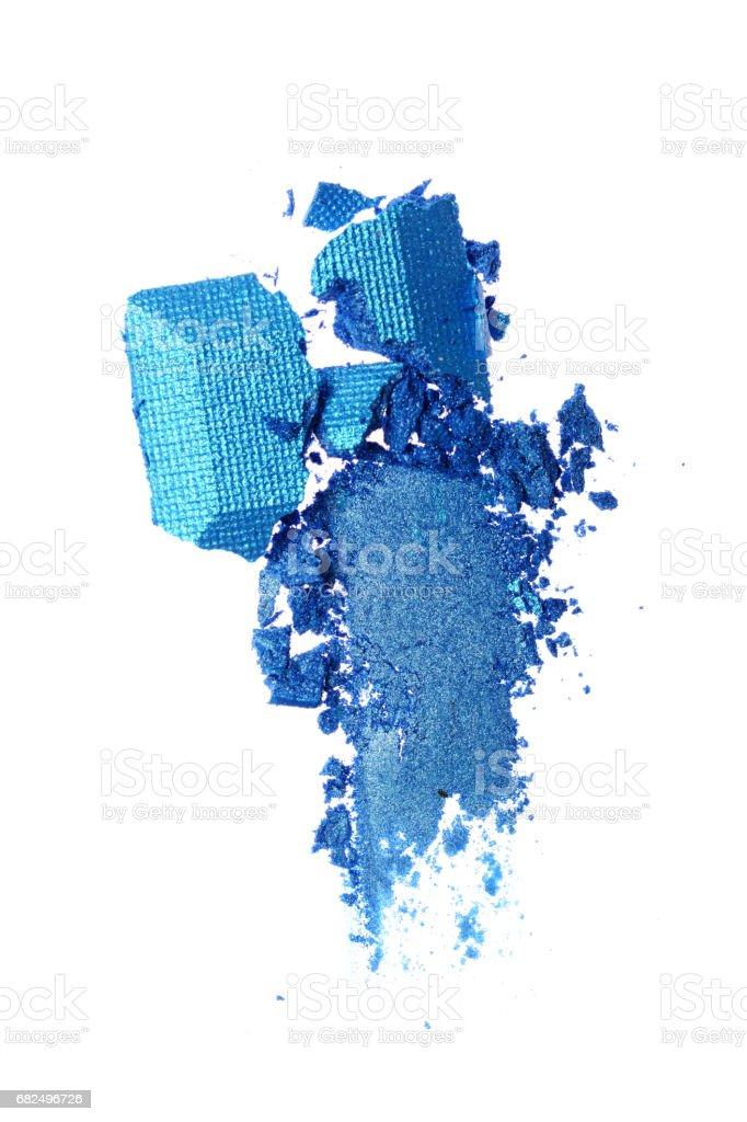 Smear of crushed blue shiny eyeshadow foto stock royalty-free
