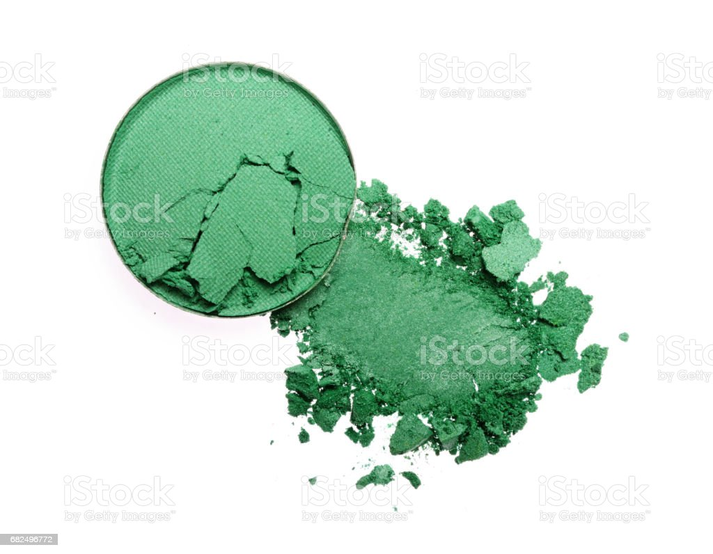 Smear of crushed green eyeshadow foto stock royalty-free