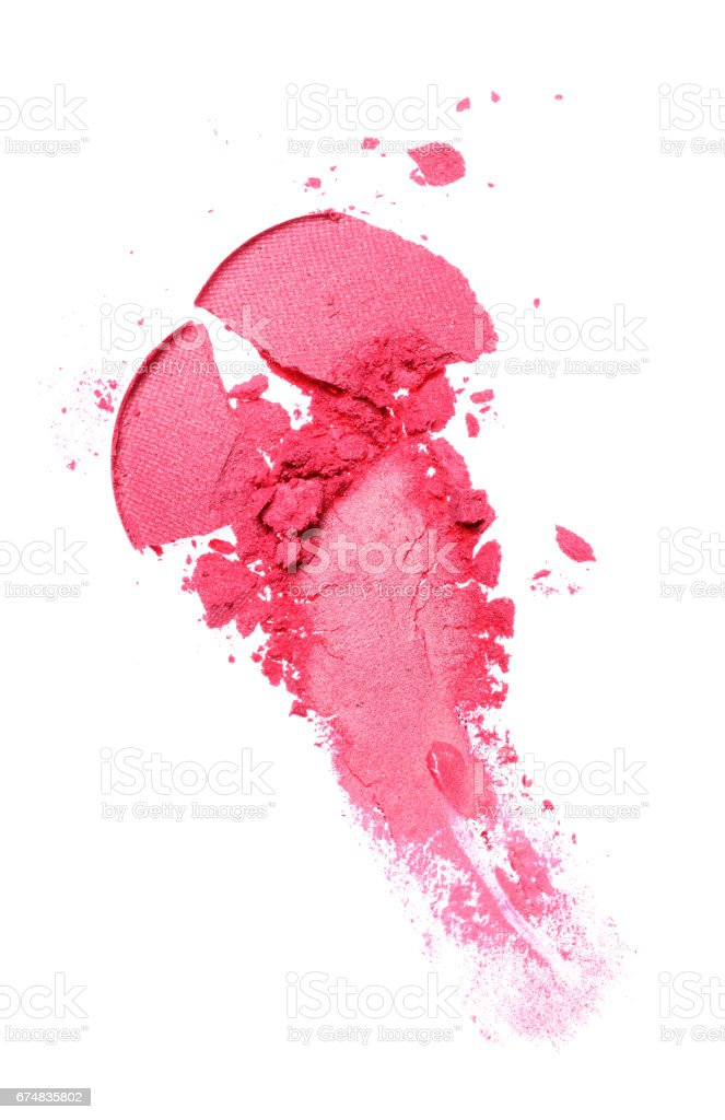Smear of crushed pink eyeshadow stock photo