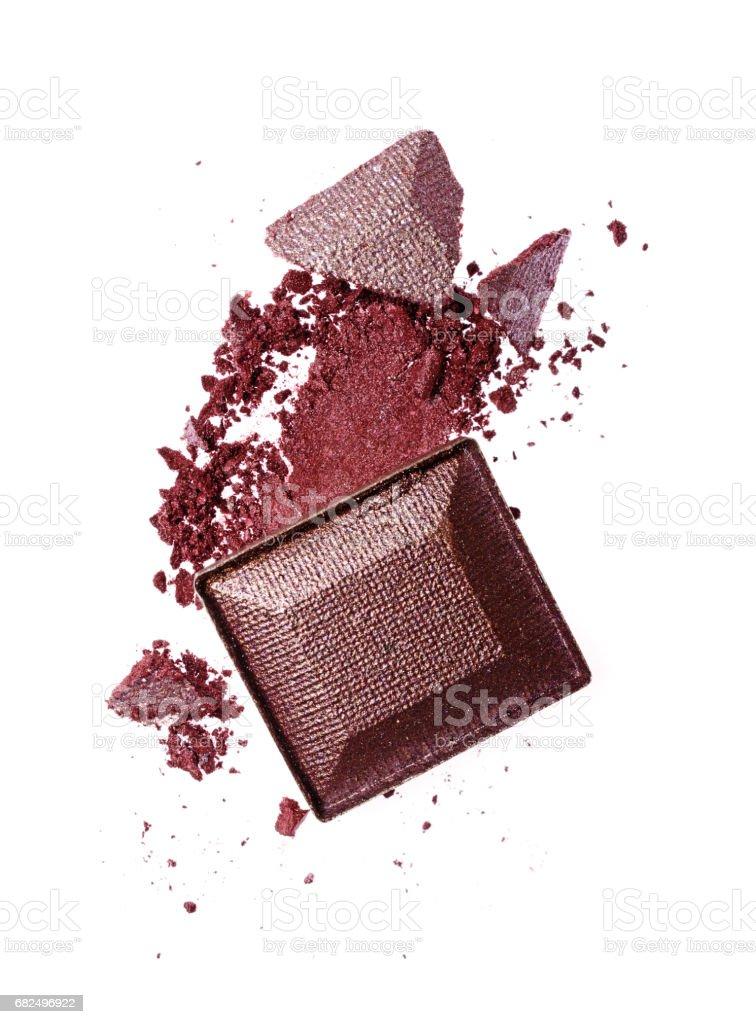 Smear of crushed purple eyeshadow royalty-free stock photo