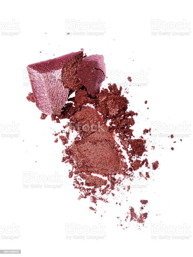 Smear of crushed shiny eyeshadow royalty-free stock photo