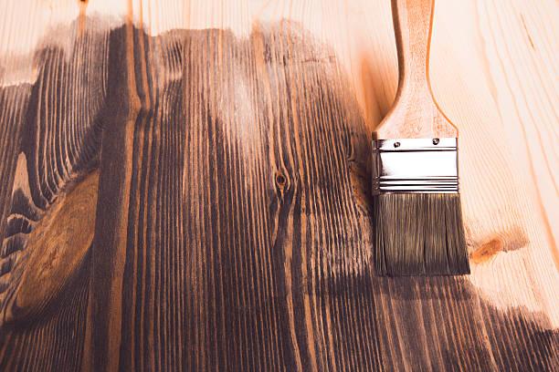 smear of paint brush - houtbeits stockfoto's en -beelden