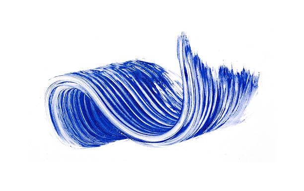 smears blue wimperntusche - blaues augen make up stock-fotos und bilder