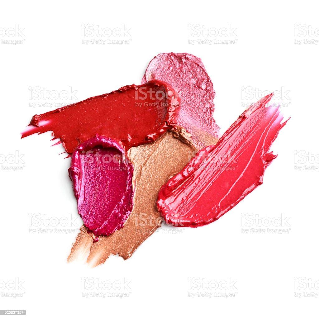 Smears of lipstick stock photo