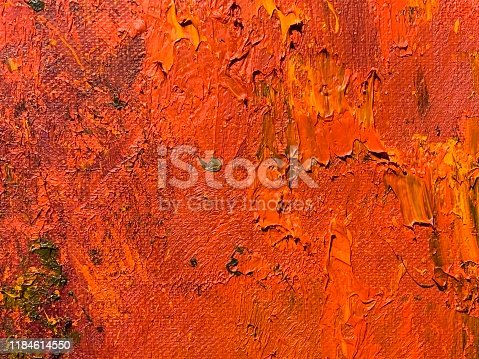 504223972 istock photo Smears of paint on canvas 1184614550