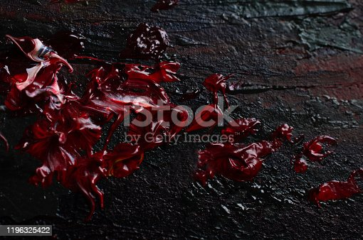 535193210 istock photo Smears of red paint resembling blood 1196325422