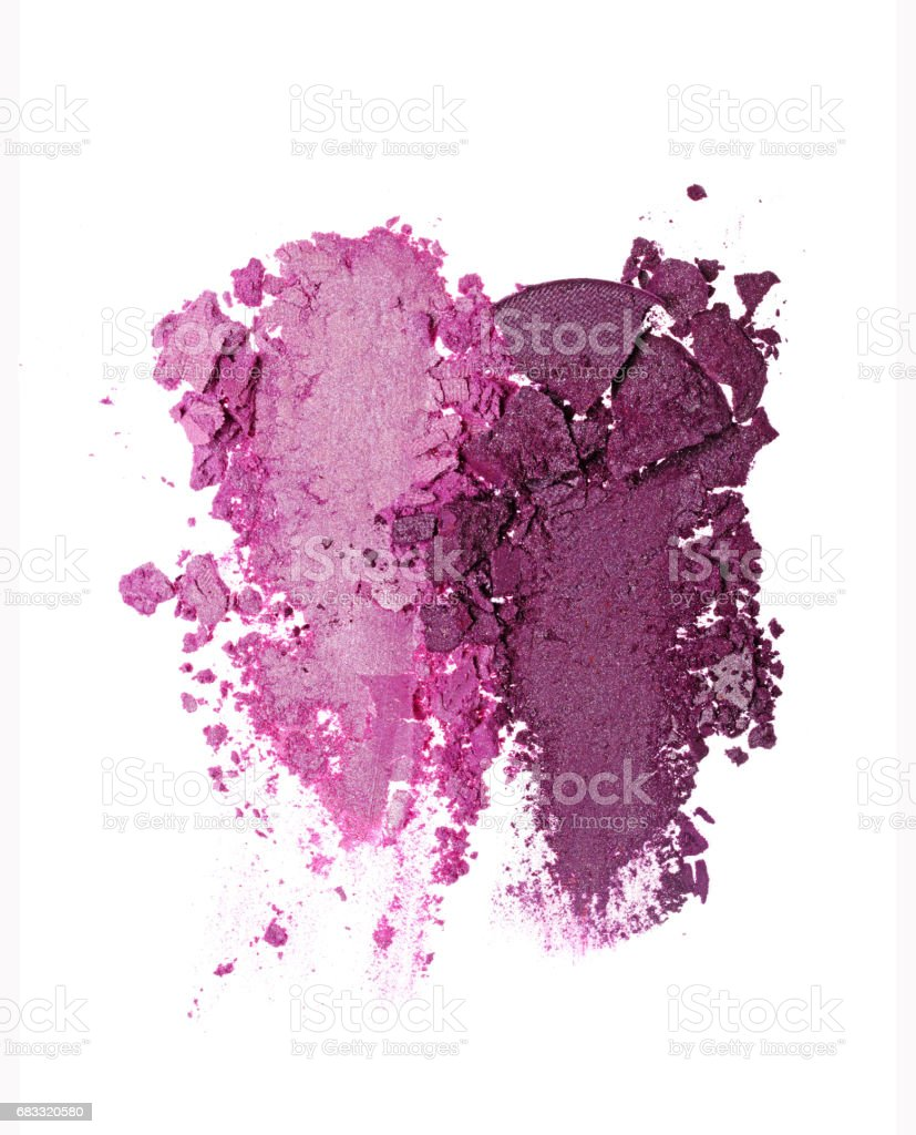 Smears of two crushed purple eyeshadow royalty-free stock photo