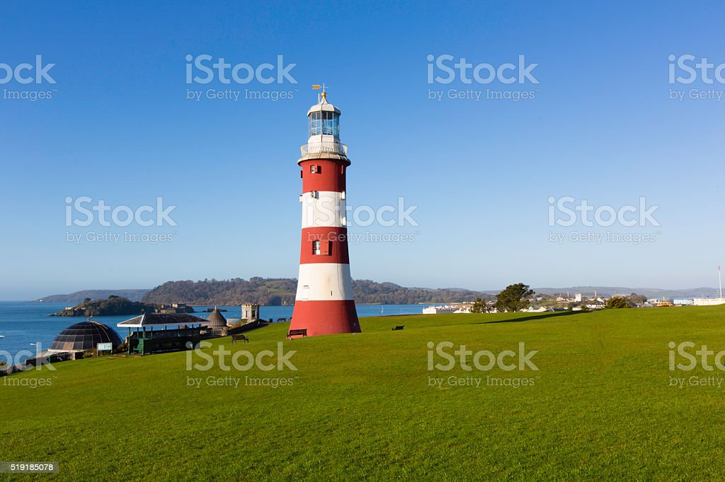 Smeaton's Tower - Plymouth Hoe stock photo