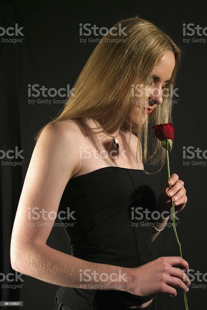 Smelling love stock photo
