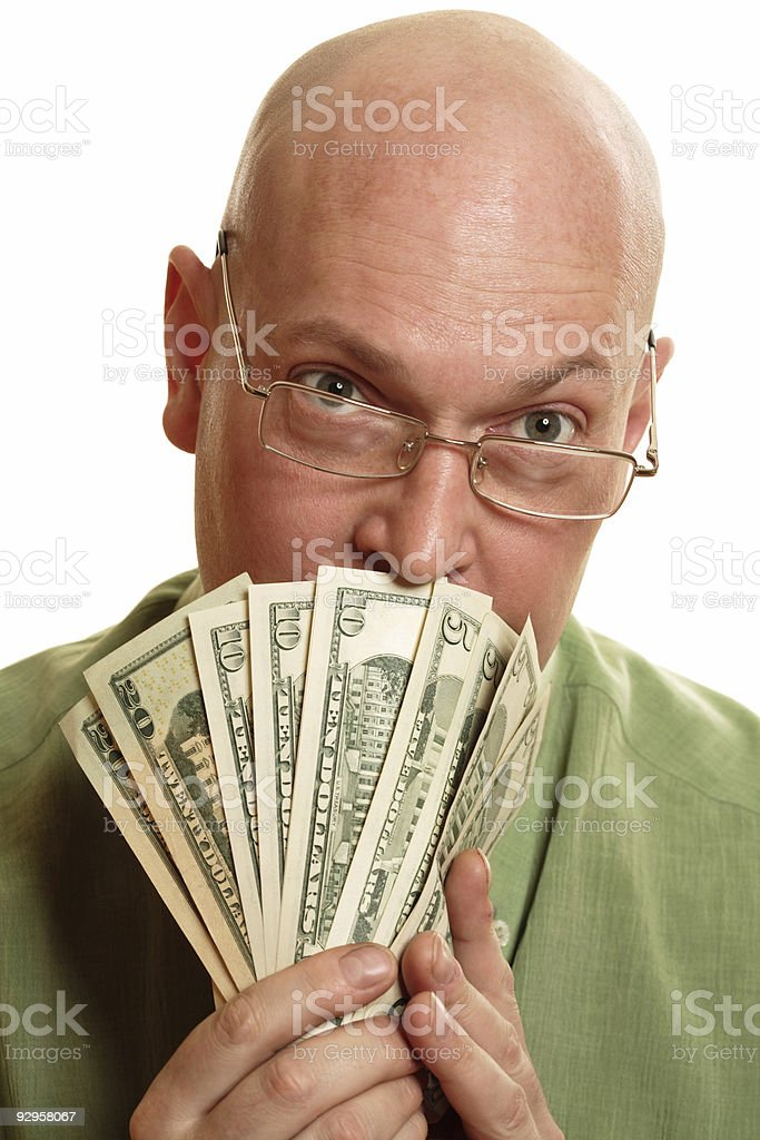 Smelling money royalty-free stock photo