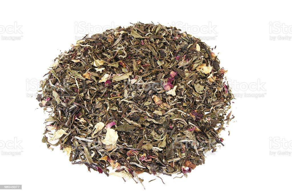 Smelling tea on a white. royalty-free stock photo