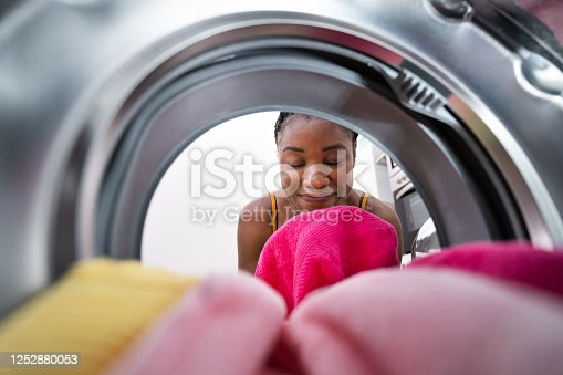 Smelling Washed Clothes Or Laundry At Home