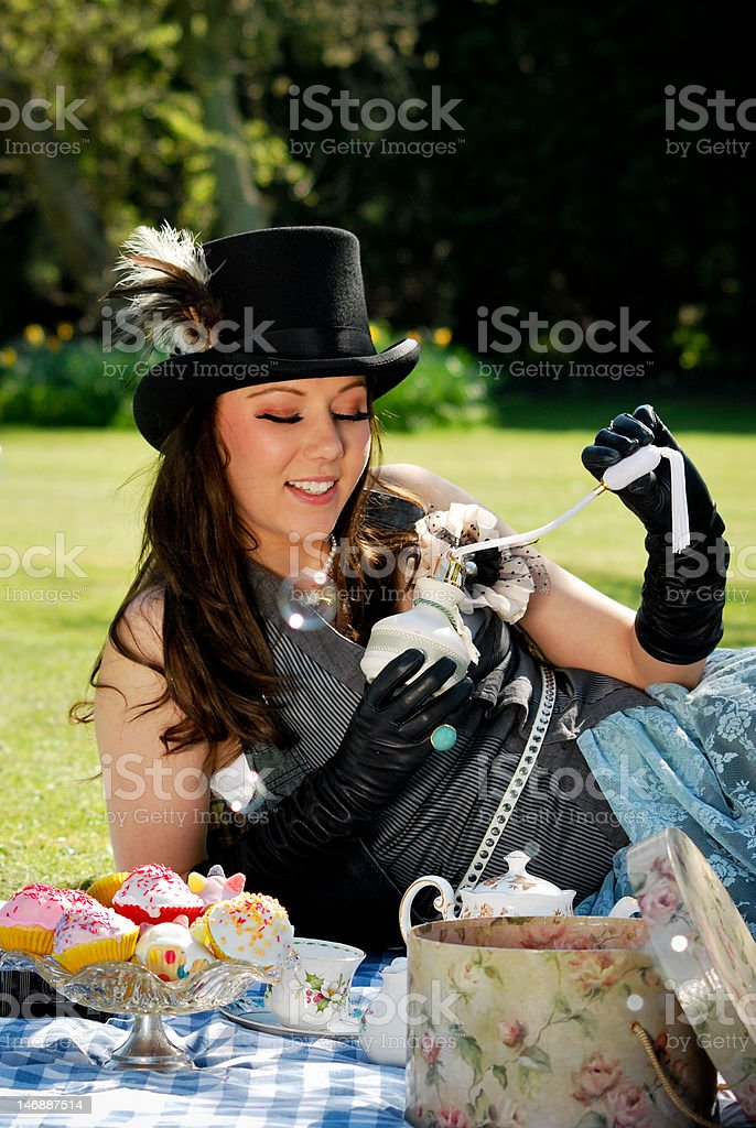smelling your best royalty-free stock photo