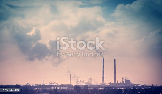 istock Smelter smoke from the chimneys 470193930