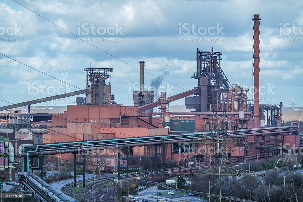 Smelting furnace stock photo
