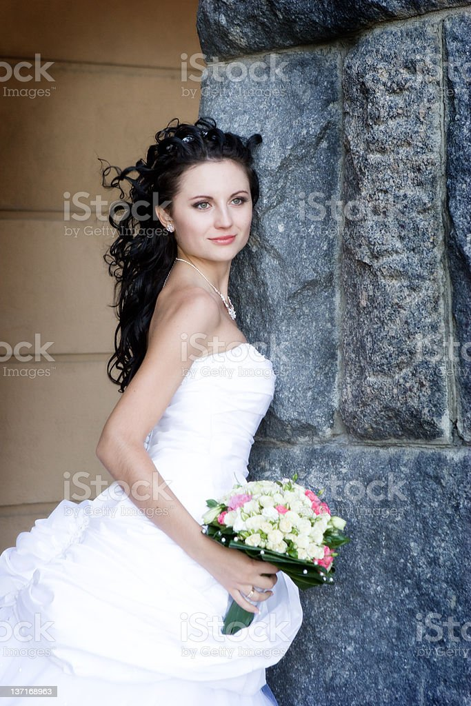 smile and stone royalty-free stock photo