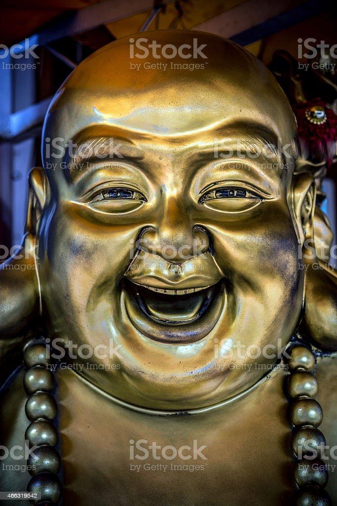 smile - buddha smile stock photo