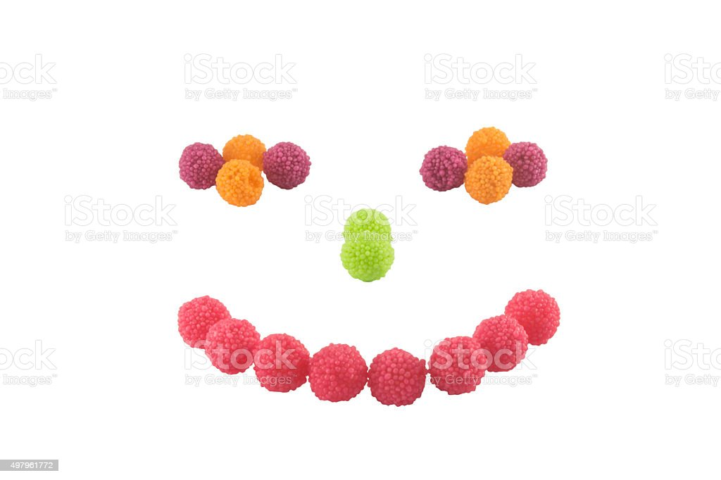 Smile Colorful candy stock photo