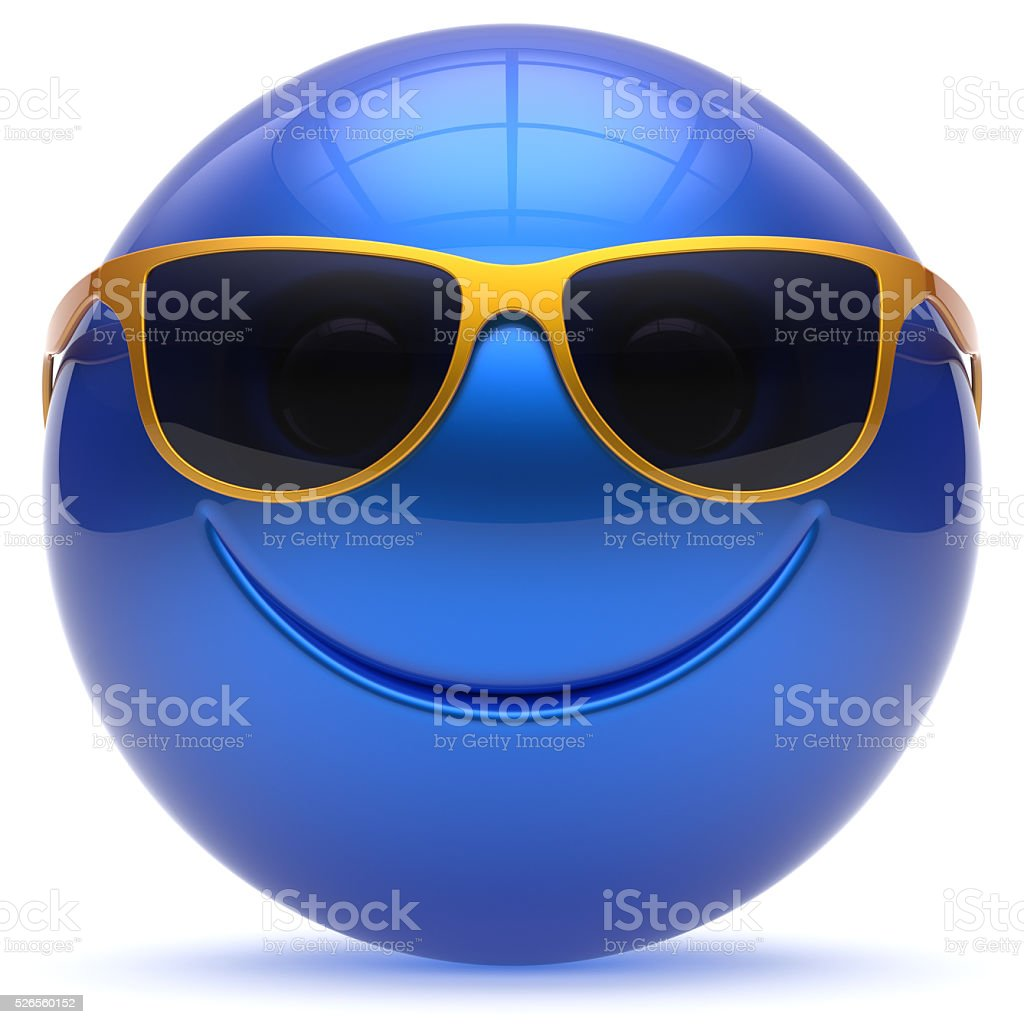 Smile face cheerful sphere emoticon head ball cartoon smiley stock photo