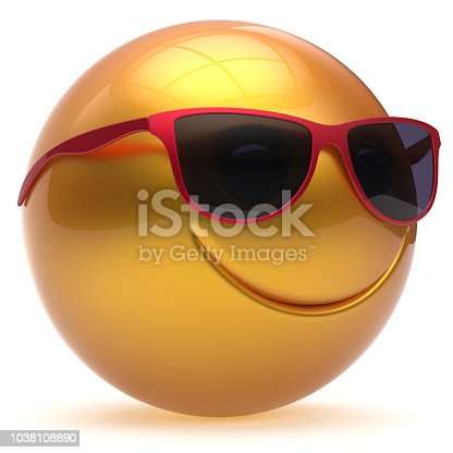 istock Smile face head ball cheerful sphere emoticon smiley yellow 1038108890