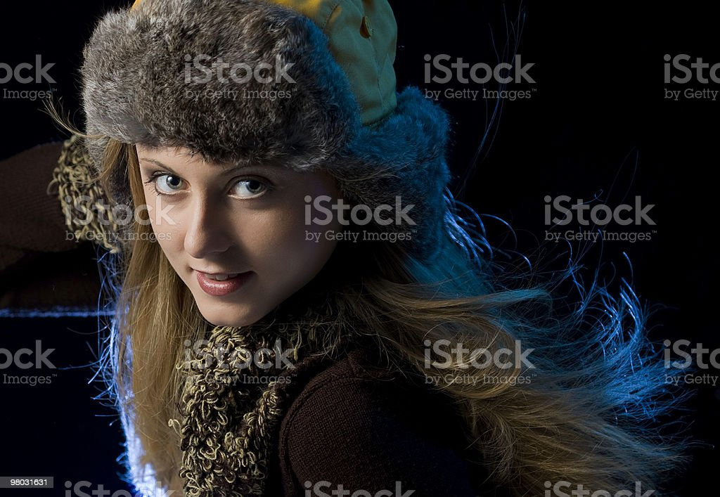 Smile give out warmth royalty-free stock photo