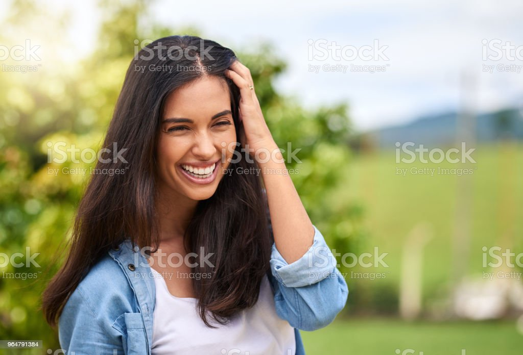 Smile is the best accessory a woman can wear royalty-free stock photo
