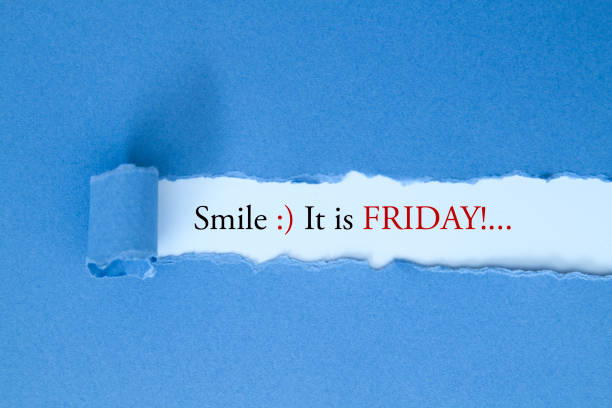 Smile, it is Friday stock photo