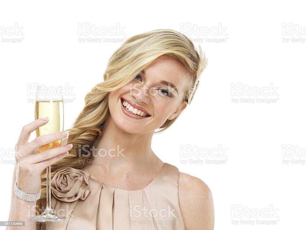 Smile, it's time to celebrate! royalty-free stock photo