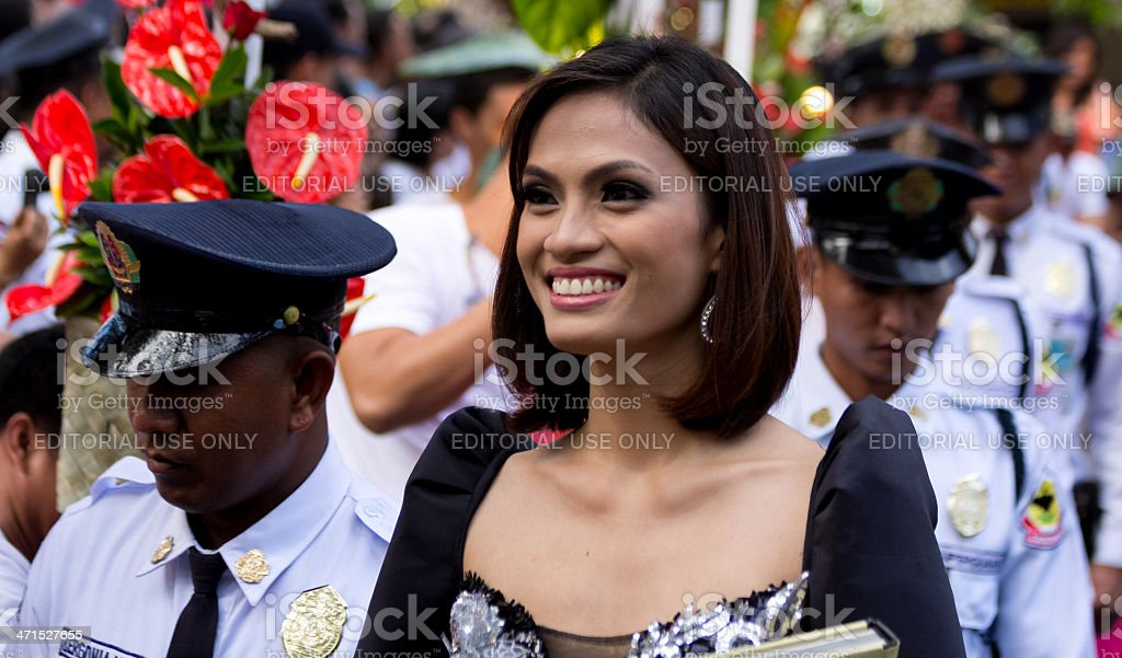 Smile of an asian beauty queen royalty-free stock photo