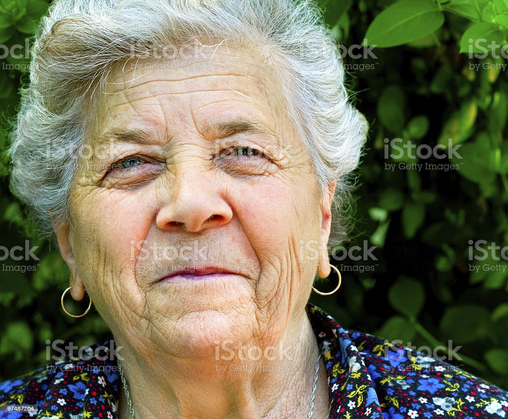 Smile of an old woman royalty-free stock photo