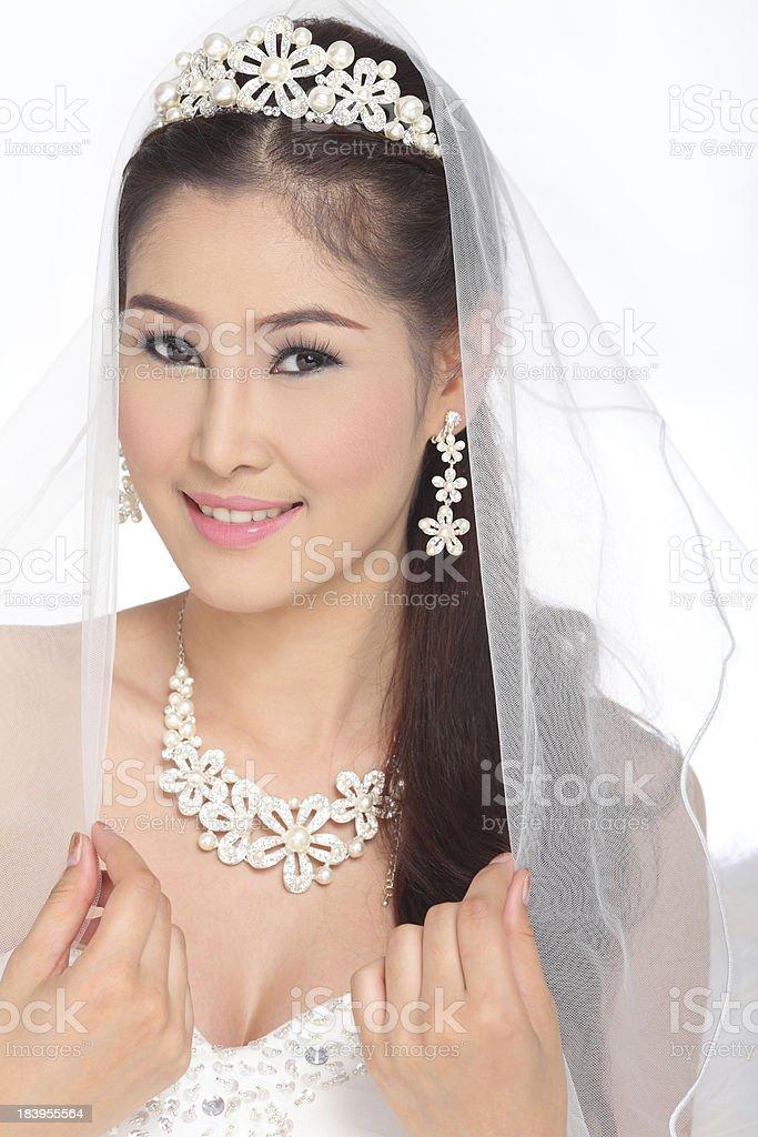 smile of bride royalty-free stock photo