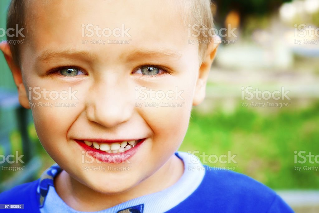 Smile of joyful happy child royalty-free stock photo