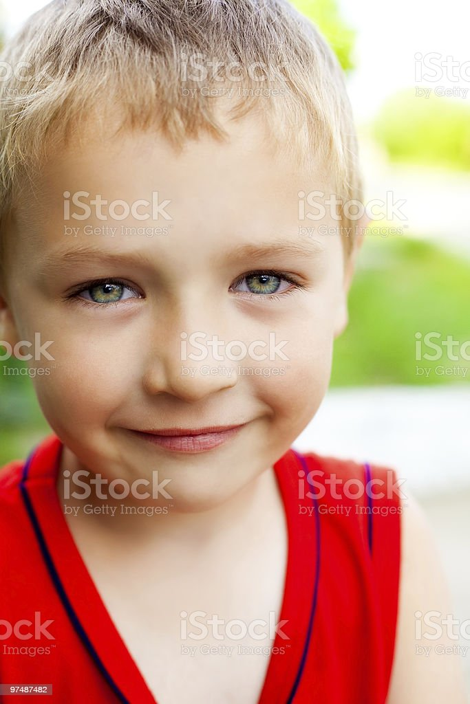 Smile of serene cute beautiful child royalty-free stock photo