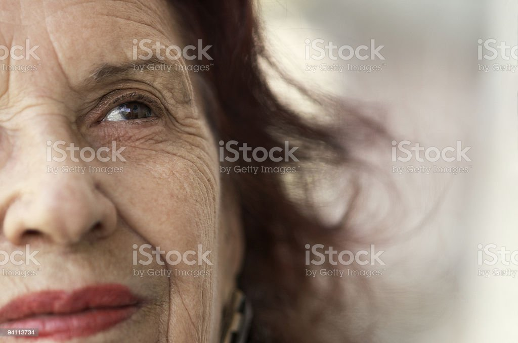 smile of the old age royalty-free stock photo
