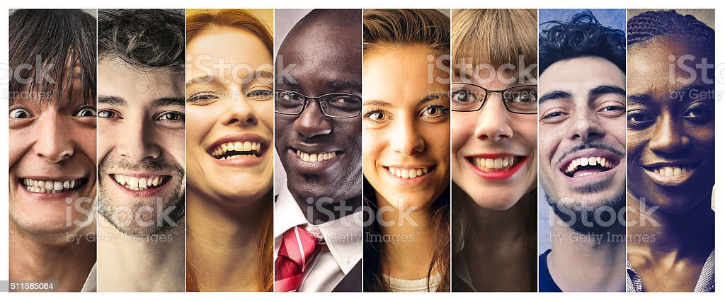Smile of The world stock photo
