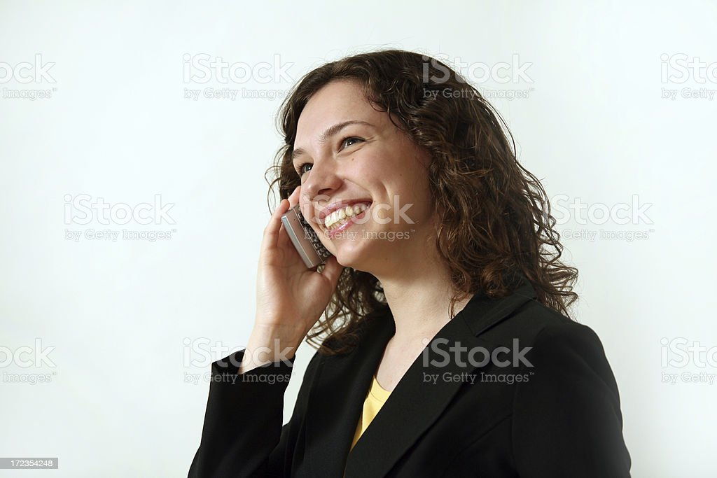 smile over the cell phone royalty-free stock photo