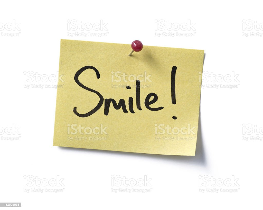 Smile! post-it. royalty-free stock photo