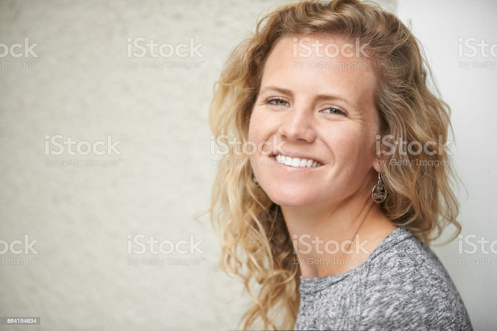 Smile - the most beautiful thing you could wear royalty-free stock photo