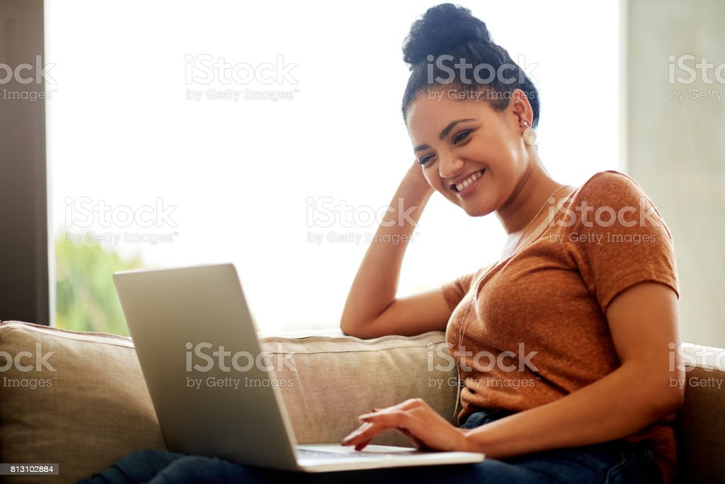 Smile though your wifi is down, it will come back stock photo