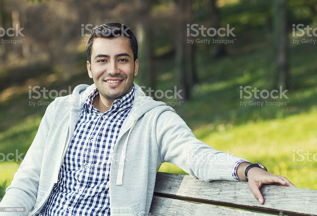 Smile young man stock photo