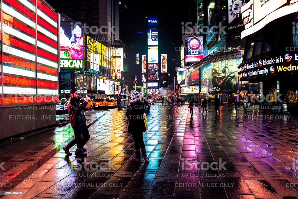 Smile, you're in Times Square. NYC stock photo