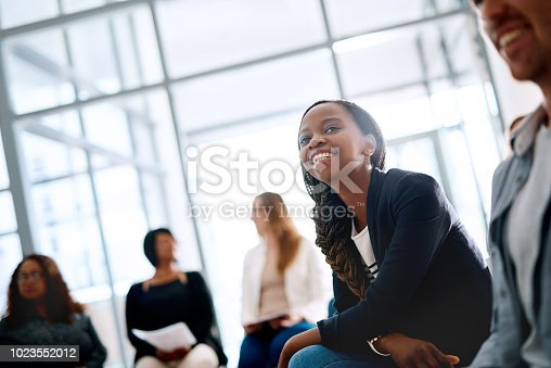 892254154 istock photo Smiles all round at this years business conference 1023552012