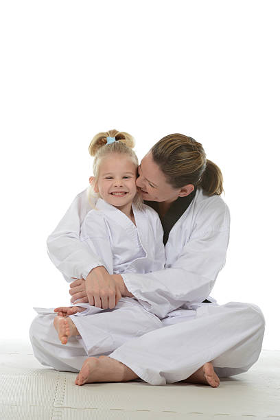 smiles - martial arts gerville stock photos and pictures