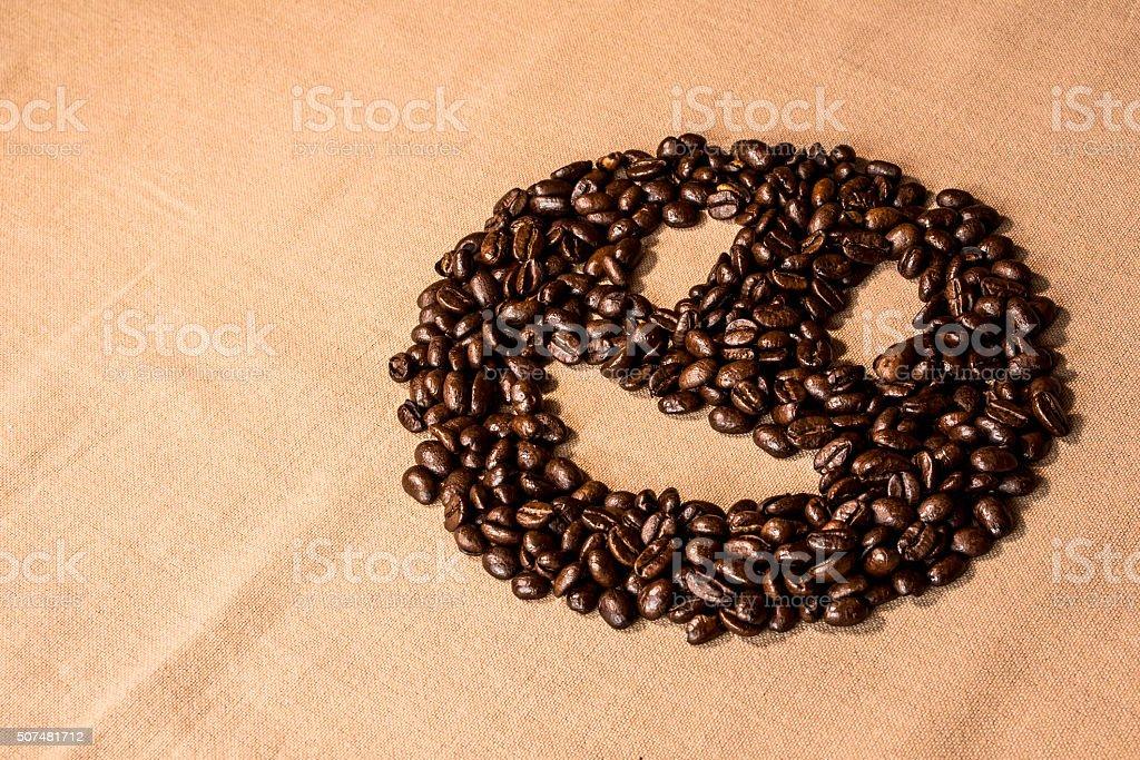 Smiley-Gesicht Kaffee – Foto