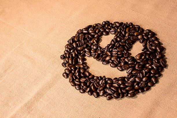 Smiley Coffee Face stock photo