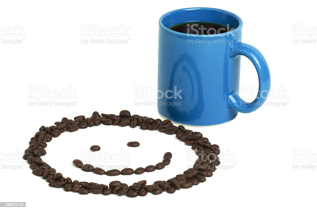 Smiley Face and Coffee royalty-free stock photo