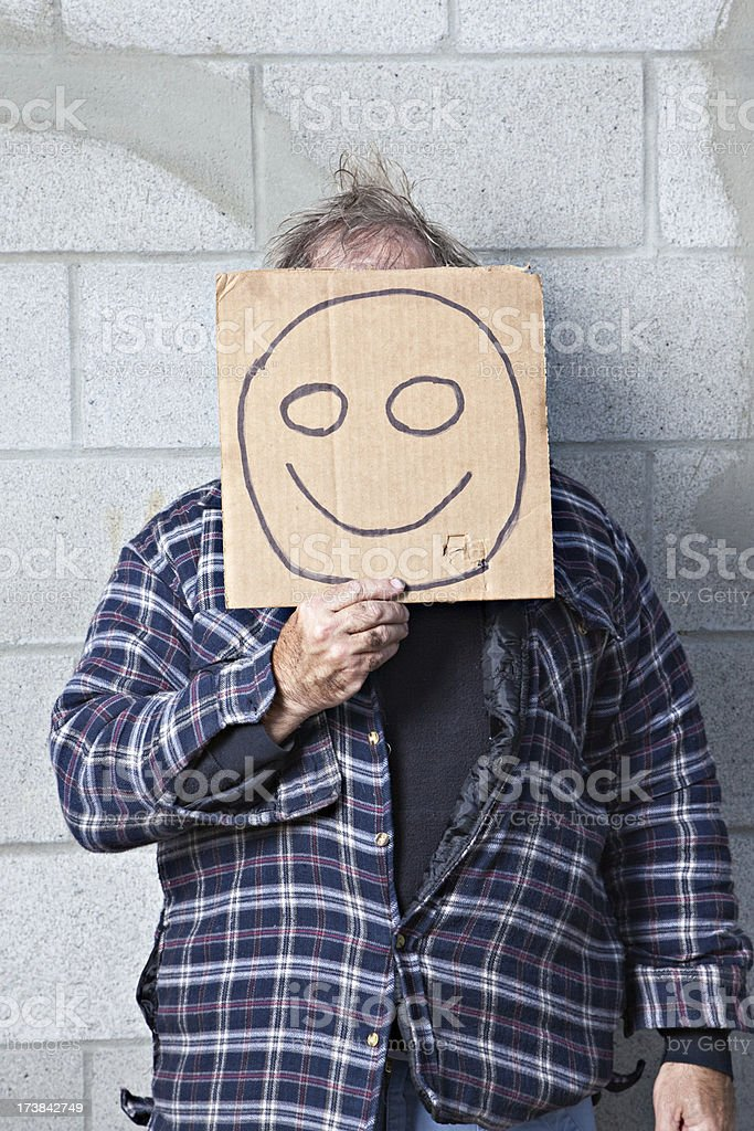 Smiley Face Bagman royalty-free stock photo