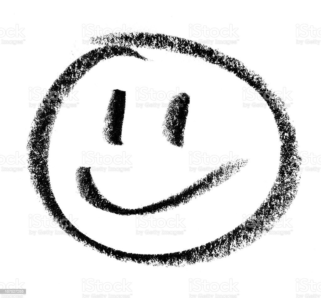 Smiley Face Drawing stock photo