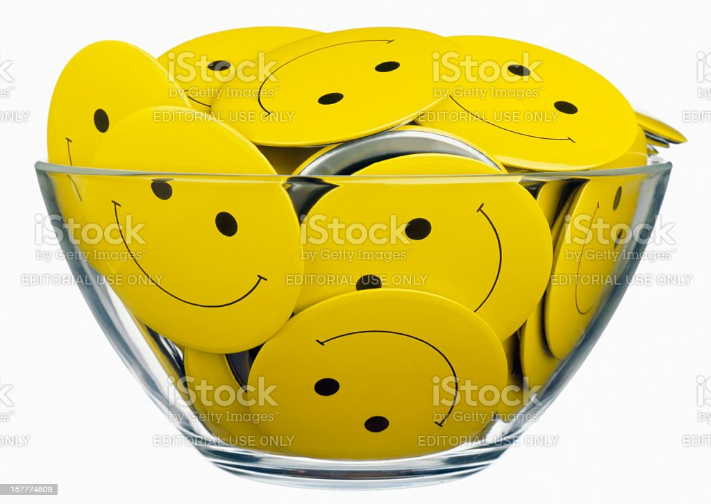 Smiley face icons stock photo